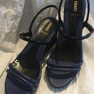 Fendi Platform Wedge Sandals